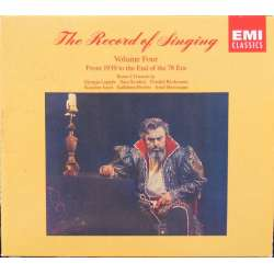 Record of Singing. Vol. 4. From 1939 to the end of the 78 Era. (1939 - 1953). 7 cd. EMI