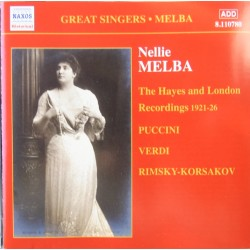 Nellie Melba. The Hayes and London Recordings 1921-26. 1 CD. Naxos