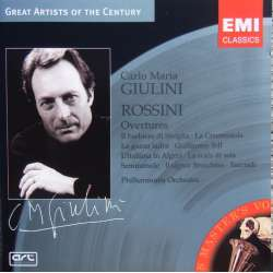 Rossini: Overtüres. Carlo Maria Giulini, PO. 1 CD. EMI. Great Artists of the Century.