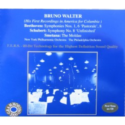 Beethoven: Symphonies nos. 1, 6, 8. + Schubert: Symphony no. 8. Bruno Walter, New York PO. (1941). 2 CD. Cedar