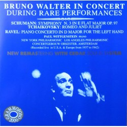 Schumann: Symphony no. 3. & Ravel: Concerto for left hand. Wittgenstein, Bruno Walter, New York PO. (1937) 1 CD. Cedar