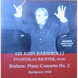 Brahms: Piano Concerto no. 2. Sviatoslav Richter, Sir John Barbirolli, Bucharest 1958. 1 CD. History