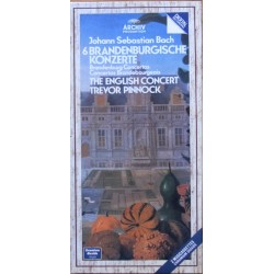 Bach: Brandenburgkoncert nr. 1-6. Trevor Pinnock, English Consort. 2 MC Tape. Archiv.