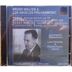 Bruno Walter and Los Angeles Philharmonic. Weber, Mozart, Tchaikovsky. 1 CD.
