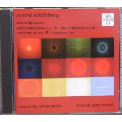 Schönberg: Transcriptioner af andres værker. Ensemble United Berlin. 1 CD. Ars Musici