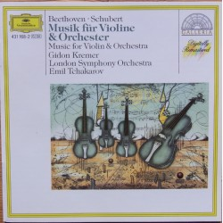 Beethoven and Schubert Music for violin and Orchestra. Gidon Kremer, LSO, Emil Tchakarov. 1 CD. DG
