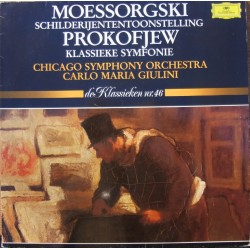 Mussorgsky: Pictures at an Exhibition. & Prokofiev: Symphony nr. 1. Giulini, CSO. 1 LP. DG
