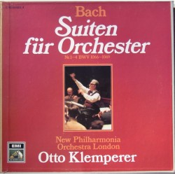 Bach: Orkester-suite nr. 1-4. Otto Klemperer, New Philharmonia Orchestra. 2 LP. EMI