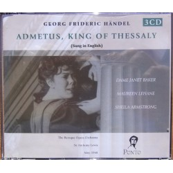 Handel: Admetus, King of Thessaly, Janet Baker, Lehane, Armstrong. Sir Anthony Lewis. 3 CD. Cedar