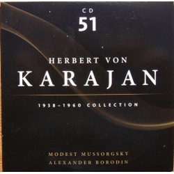 Mussorgsky: Pictures at an exhibition. & Borodin: Polovetsian dances. Karajan, Philharmonia. 1 CD. Membran