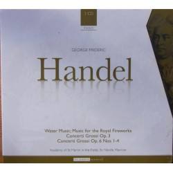 Handel: Water music, Fireworks, Concerti Grossi Op. 3 & 6. Neville Marriner. 3 CD. Brilliant Classics