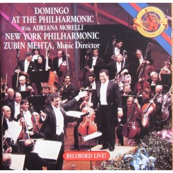 Placido Domingo: At the Philharmonic. Zubin Mehta. 1 CD. Sony / CBS