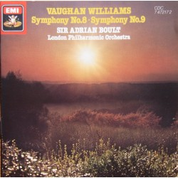 Vaughan-Williams: Symphonies nos. 8 & 9. Sir Adrian Boult, LPO. 1 CD. EMI