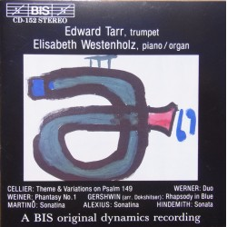 Cellier: Theme and Variationes on Psalm 149, Werner: Duo. Edward Tarr, Elisabeth Westenholz. 1 CD. BIS