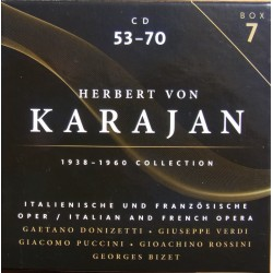 Herbert von Karajan conducts Italian and French Operas. 18 cd
